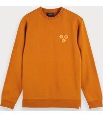 scotch & soda artwork detail sweatshirt