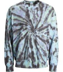 jack & jones men's asher tie dye crew neck sweater