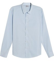 camisa manga larga a rayas color azul, talla l