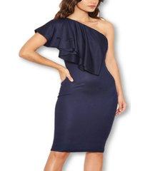 ax paris women's frill front bodycon dress