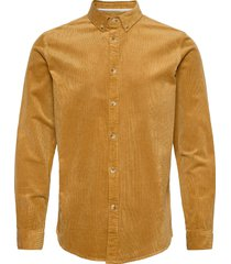 akkonrad corduroy shirt skjorta casual gul anerkjendt