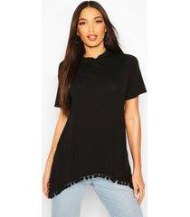 tall longline pom pom t-shirt