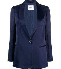dondup relaxed tuxedo jacket - blue