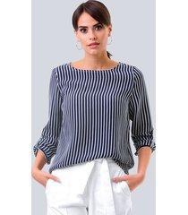 blouse alba moda marine::offwhite