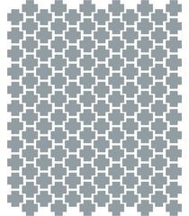 adesivo de parede cruzes cinza 138un 4x4cm - cinza - dafiti