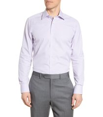 men's david donahue trim fit plaid dress shirt