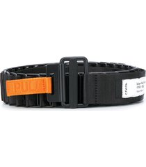 heron preston designer belt - black
