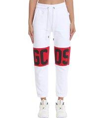 gcds pants in white cotton
