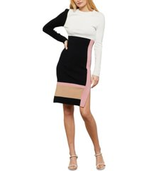 bcbgmaxazria colorblocked knit dress