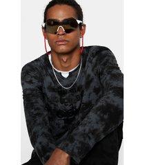100% cotton tie-dye t-shirt - black - xxl