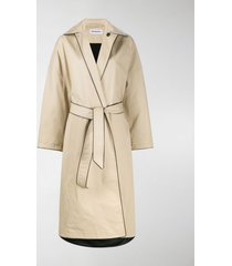 balenciaga cocoon belted trench coat