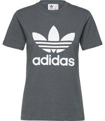 adicolor classics trefoil t-shirt w t-shirts & tops short-sleeved grå adidas originals
