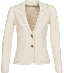 blazer cream longo
