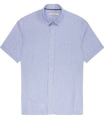 camisa casual manga corta a rayas regular fit para hombre 97549