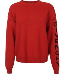 givenchy sleeve logo printed sweater