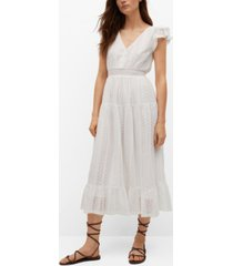 mango openwork organic cotton dress