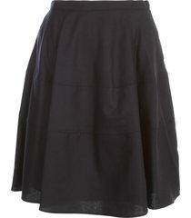 aspesi circle skirt w/horizontal slits
