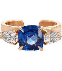 18kt rose gold blue sapphire ear cuff