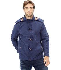 chaqueta capucha azul corona