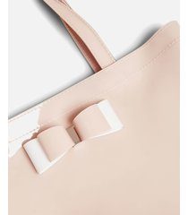 ted baker women's haricon bow small icon tote bag - dusky pink