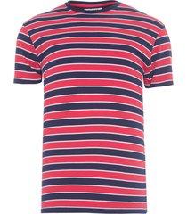 camiseta masculina bold stripe - vermelho