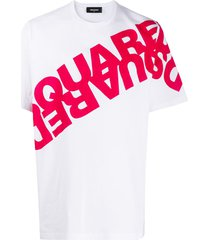 dsquared2 loose-fit mirrored logo t-shirt - white
