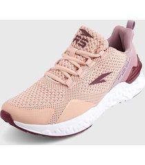 tenis running rosa-morado rs21