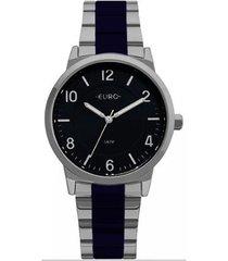 relógio feminino euro eu2036ylx/5k /azul