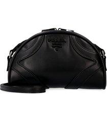 prada bowling leather crossbody bag