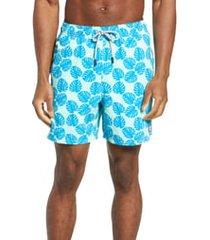 men's tom & teddy leaf print swim trunks