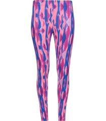 legging deportivo estampado rosa y azul color morado, talla s