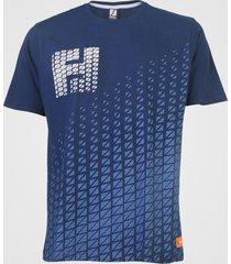 camiseta fatal geométrica azul-marinho