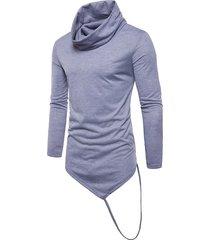 camisas para hombres camiseta de tops hombre manga larga de cuello alto