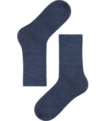 calzedonia - short wool and cotton socks, 40-41, blue, men