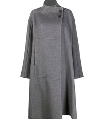 3.1 phillip lim wrap blanket coat - grey
