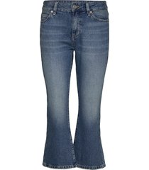 crop flare sndm jeans wijde pijpen blauw tommy jeans