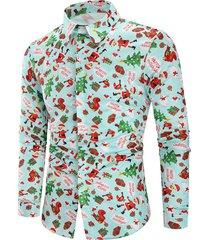 christmas animal gifts printed long sleeves shirt