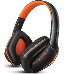 audífonos gamer, each b3506 aislamiento de ruido estéreo audifonos bluetooth manos libres  plegable mejor auricular de música inalámbrica con micrófono de 3,5 mm de cable para teléfono (naranja negro)