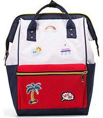 mochilas/ mochila de bordado moda mariposa mujeres-rojo