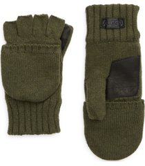 men's ugg knit flip mittens, size large/x-large - green