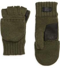 men's ugg knit flip mittens, size small/medium - green