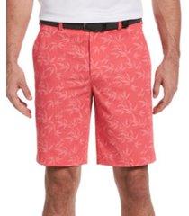 pga tour men's seersucker bamboo print shorts