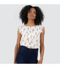 blusa mujer floral