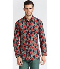 klasyczna koszula w kwiaty