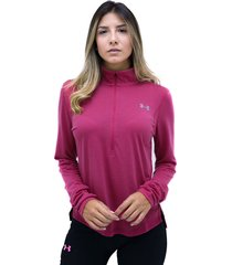 buzos rosado under armour buzo streaker 2.0 half zip