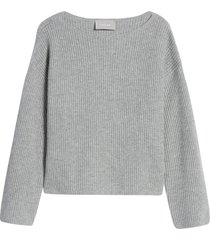 women's everlane the cashmere rib boatneck sweater