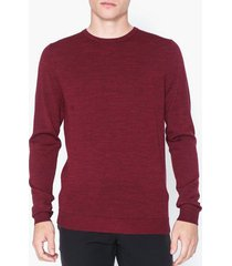 selected homme slhtower new merino crew neck b noo tröjor mörk lila
