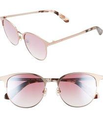 women's kate spade new york joelynn 52mm sunglasses - pink/ havana