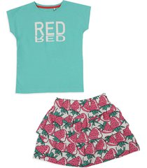 conjunto verde aguamarina-rosa-blanco name it