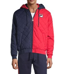 sawyer colorblock quilted jacket